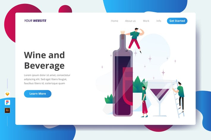 Thumbnail for Wine and Beverage - Landing Page