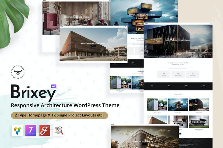 Cover Image For Brixey – Responsive Architecture WordPress Theme