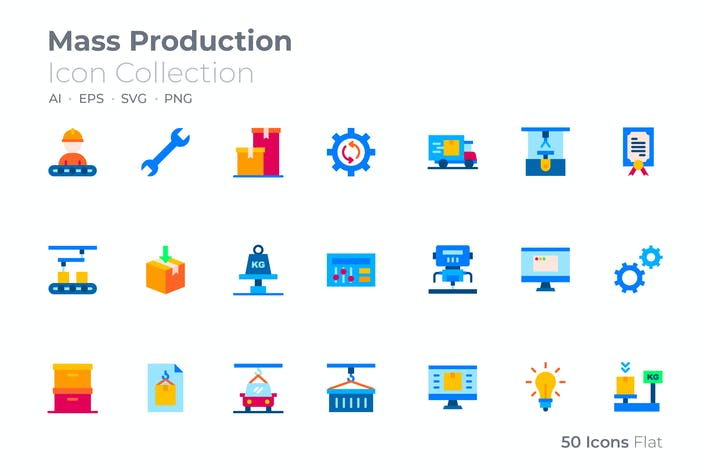 Mass Production Color Icon