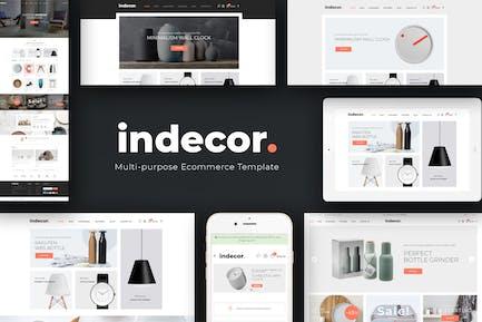Indecor - Tema Opencart Limpio y Minimalista al