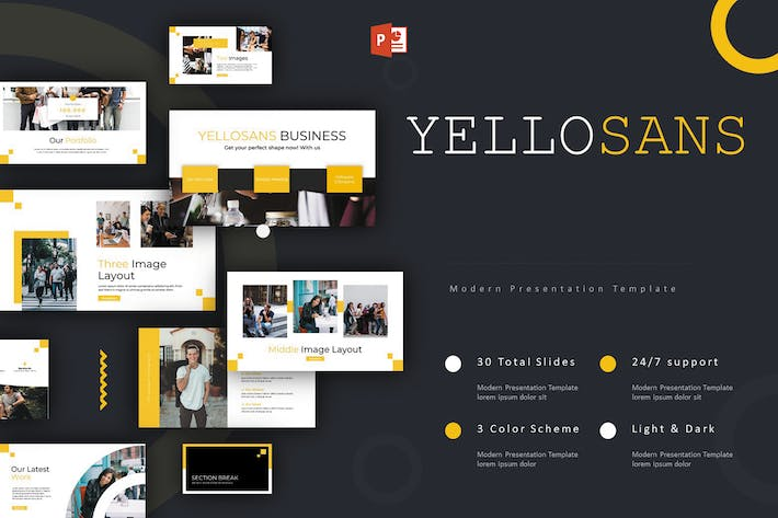 Thumbnail for Yellosans - Powerpoint Template