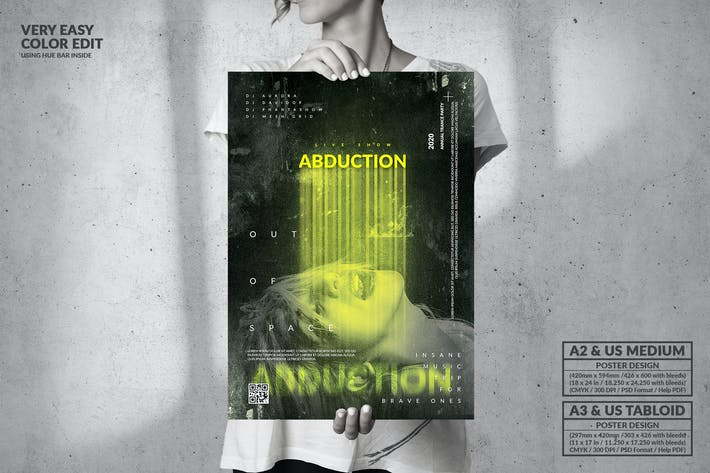 Thumbnail for Abduction Party for Brave Ones - Big Poster Design