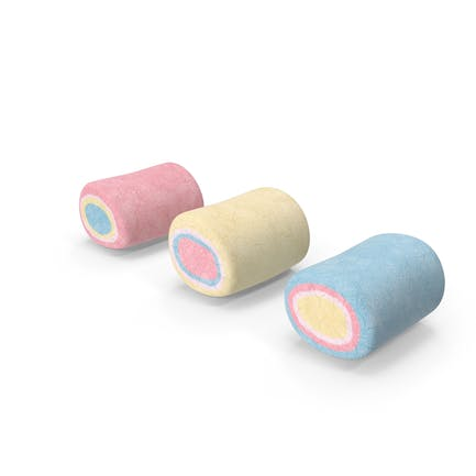 Bunte Marshmallow-Süßigkeit