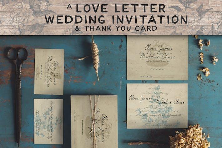 Love Letter Wedding Invitation By Klapauciusco On Envato Elements