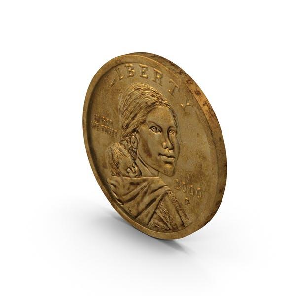 Thumbnail for US Sacagawea Dollar Aged