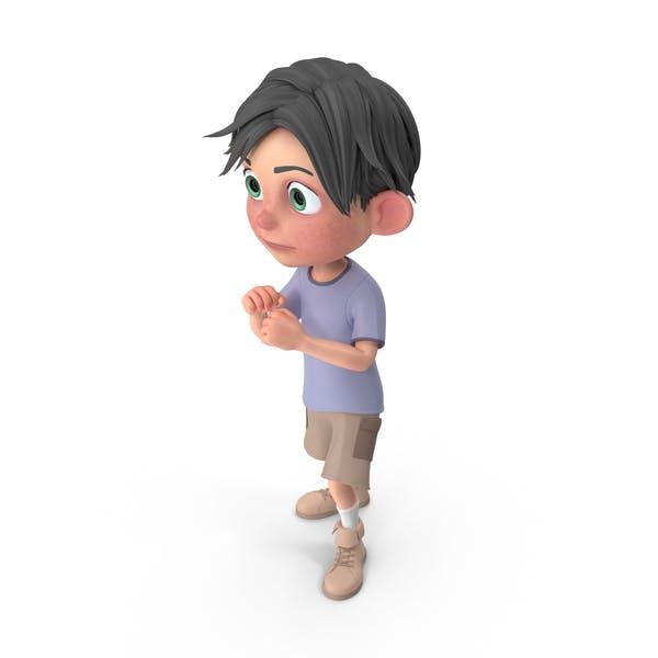 Cartoon Boy Jack Guarding