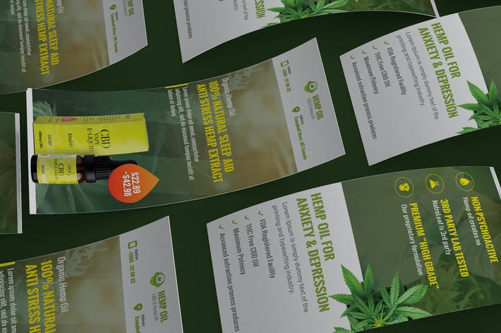 Thumbnail for Cannabis Hemp Oil Products DL Rackcard