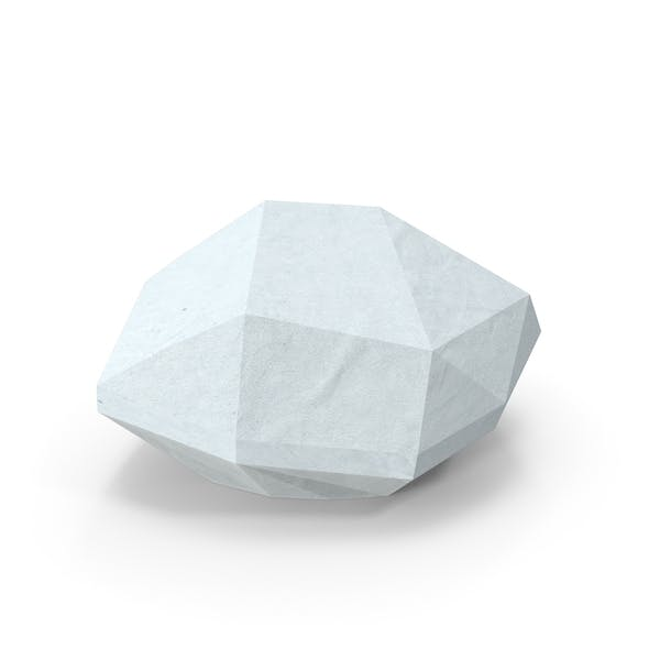 Cover Image for Low Poly Snow Covered Rock