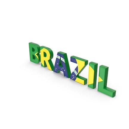 Brasilianischer Text mit Flagge