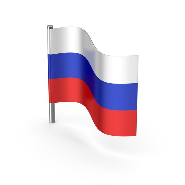 Russia Cartoon Flag