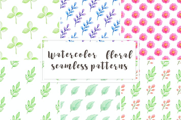 Thumbnail for Watercolor Floral Patterns