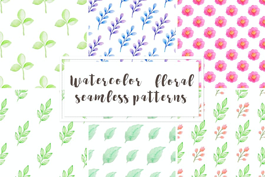 Watercolor Floral Patterns