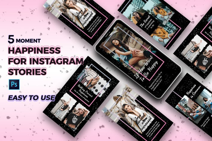 Thumbnail for Dark Fashion Instagram Story Template