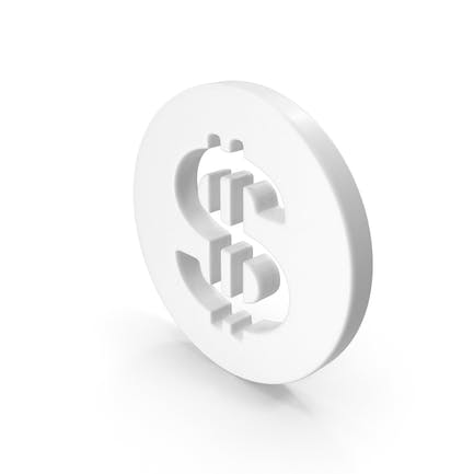 Dollar Symbol White