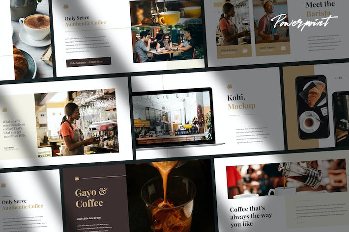 Thumbnail for Kohi - Cafe Business Keynote Template