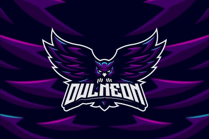 Thumbnail for Neon Owl Creative Mascot Logo Template