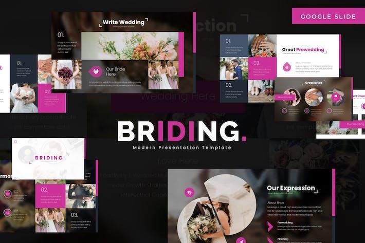 Cover Image For Briding - Google Slides Template
