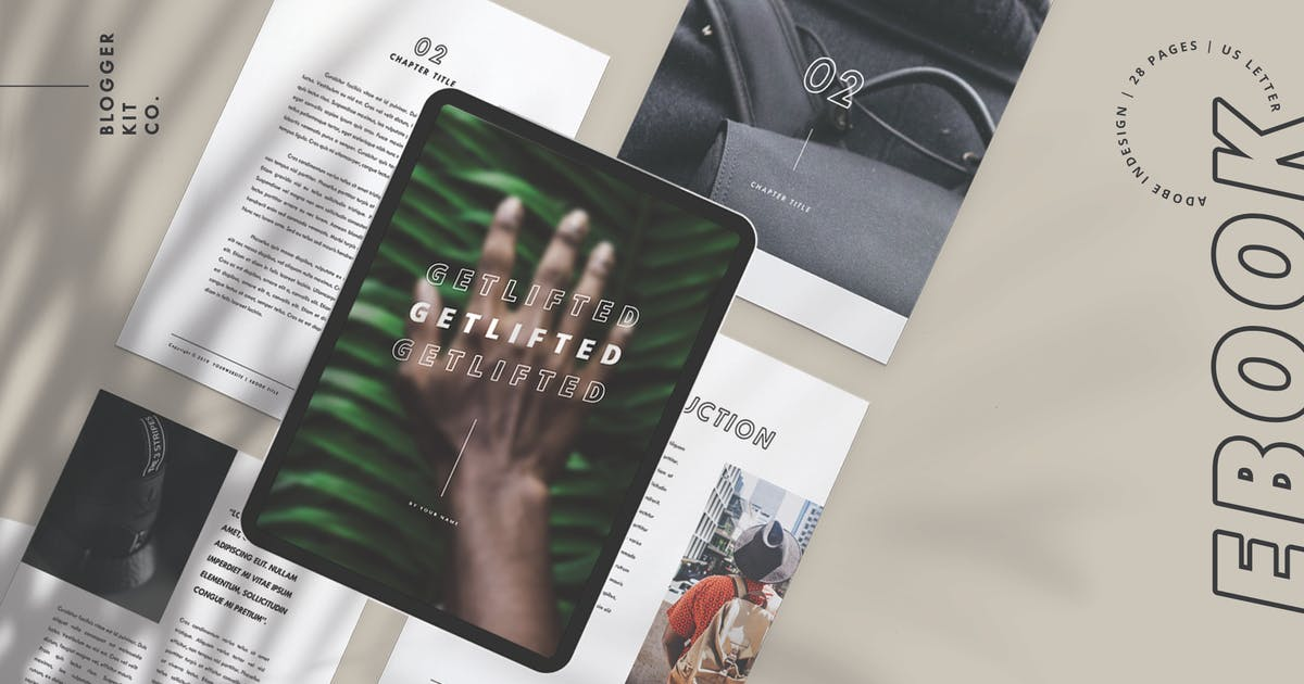 Ebook Template Adobe Indesign 28 Pages By Cokocreates On