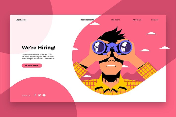 Thumbnail for are hiring - Banner & Landing Page