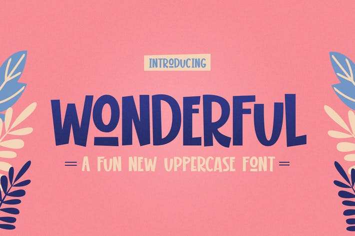 Thumbnail for Wonderful Display Font