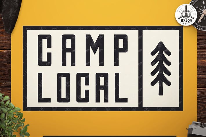 Thumbnail for Vintage Camp Local Logo / Retro Typography Badge