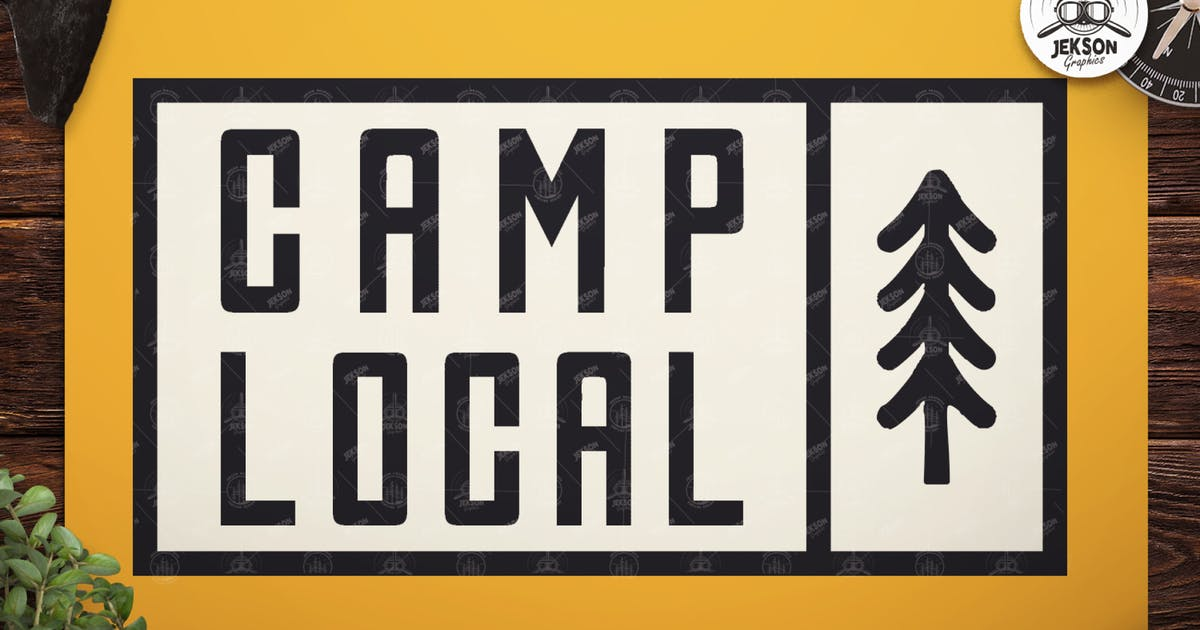 Download Vintage Camp Local Logo / Retro Typography Badge by JeksonJS