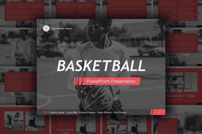 Thumbnail for Basketball PowerPoint Template