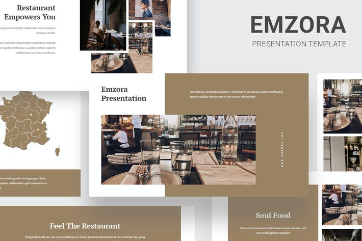 Thumbnail for Emzora - Restaurant Pitch Deck Google Slides