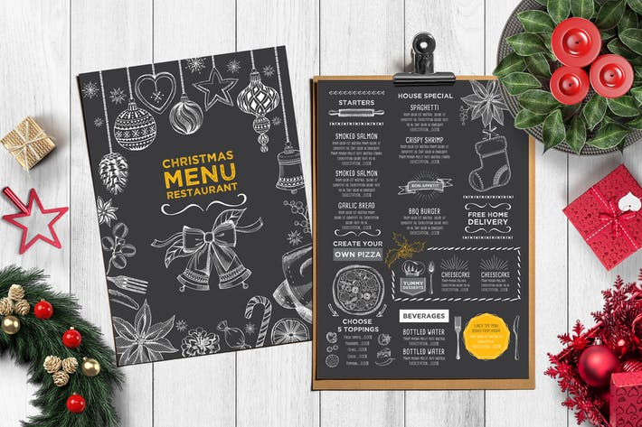Seafood Menu Template by BarcelonaDesignShop on Envato Elements