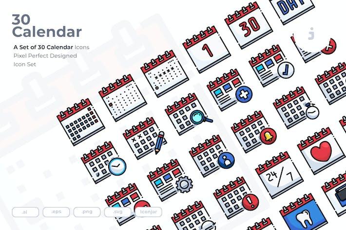 Thumbnail for 30 Calendar Icons