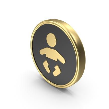 Babypflege-Münzensymbol-Logo