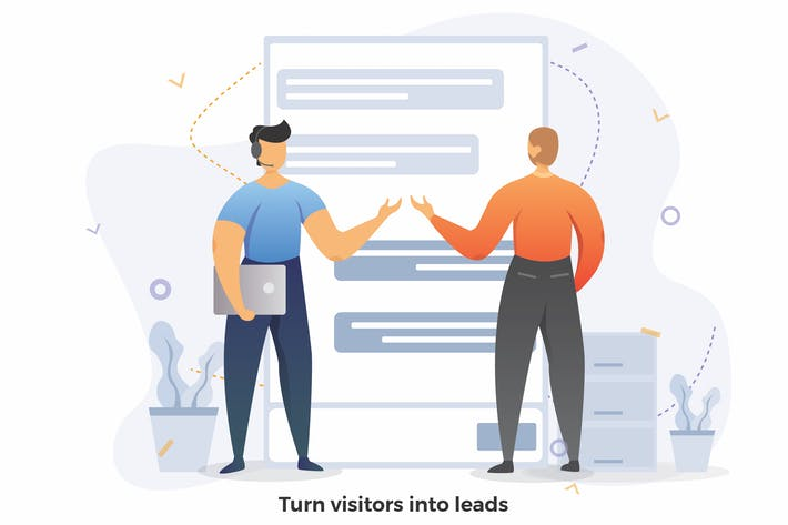 Cover Image For Turn Visitors Into Leads CRM Illustration