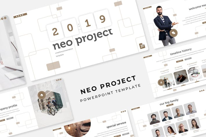 Cover Image For Neo Project - PowerPoint Template