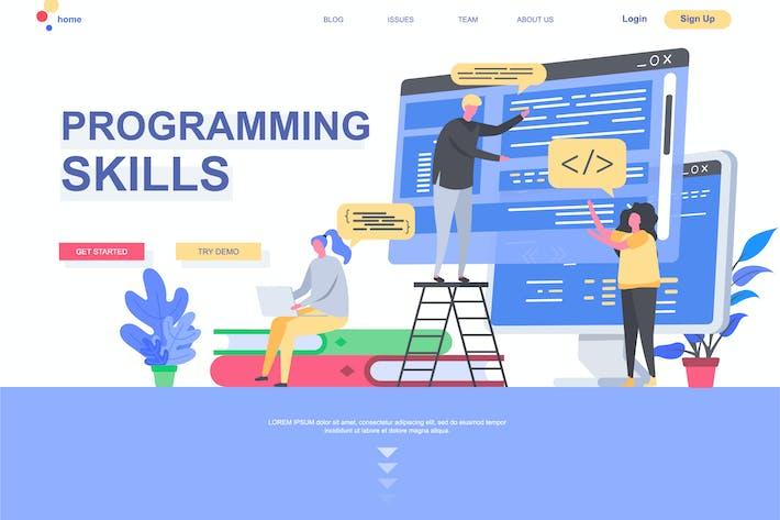 Thumbnail for Programming Skills Landing Page Template