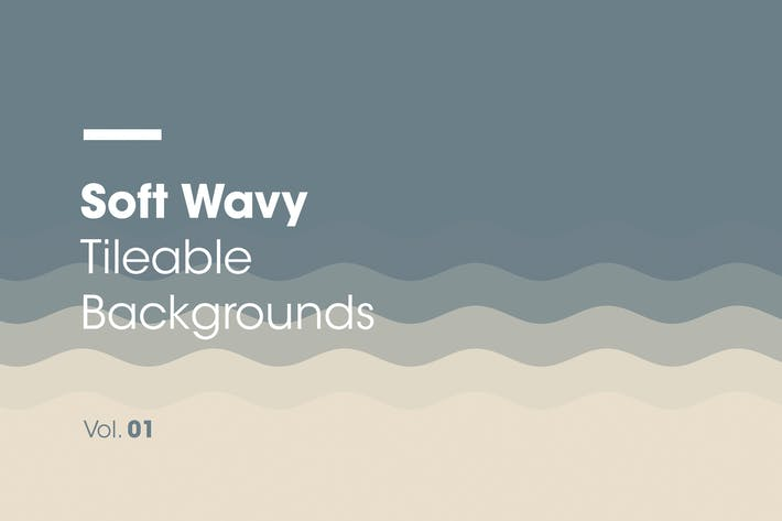 Thumbnail for Soft Wavy | Tileable Backgrounds | Vol. 01