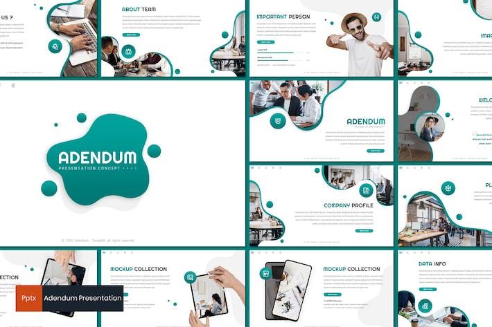 Thumbnail for Adendum - Business Powerpoint Template