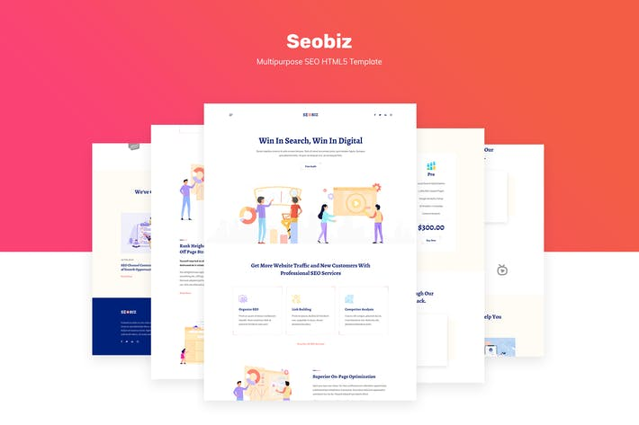 Thumbnail for Seobiz | Multipurpose SEO & SMM HTML5 Template
