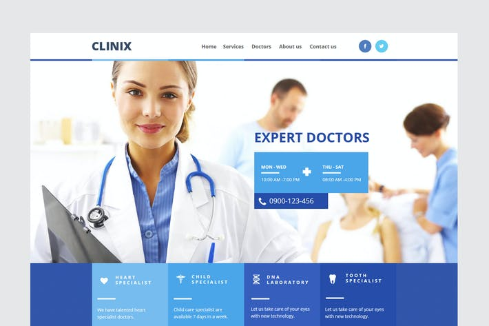 Thumbnail for CLINIX - Medical HTML Template