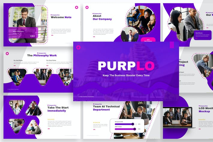 Thumbnail for Purplo - Business Booster Powerpoint YR