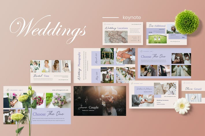 Thumbnail for Olivia - Wedding Planner Keynote Presentation