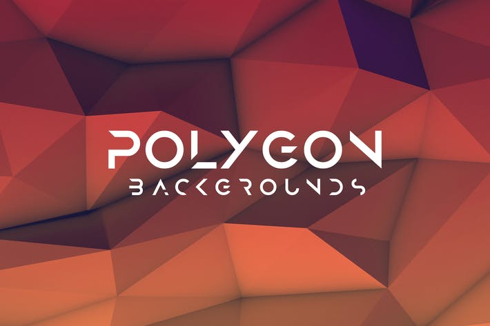 Realistic Polygon 3D Background
