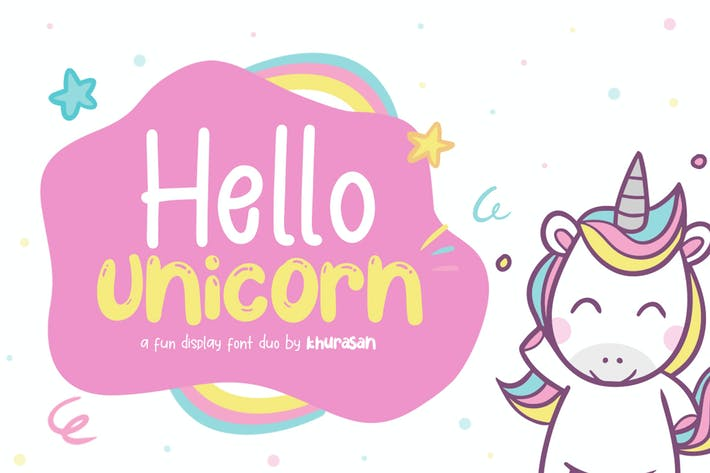 Cover Image For Hello Unicorn Font Duo