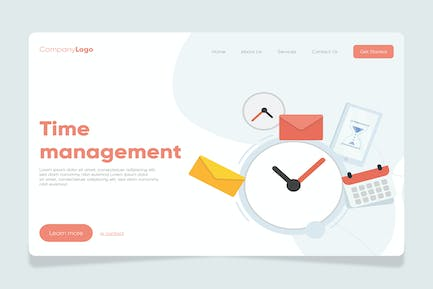 Time - Banner & Landing Page
