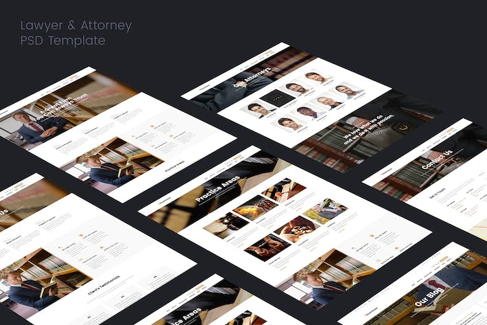Thumbnail for Lawyer & Attorney PSD Template