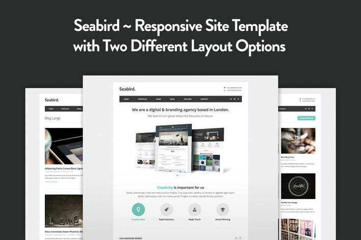 Thumbnail for Seabird - Multipurpose Responsive HTML5 Template