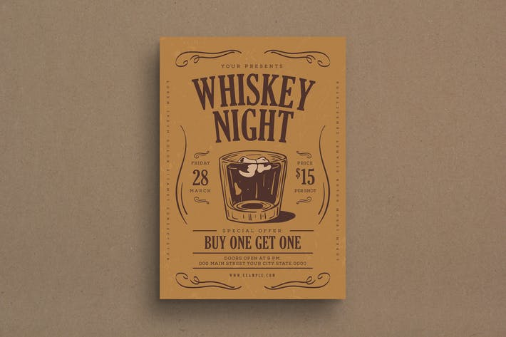 Thumbnail for Whiskey Night Event Flyer