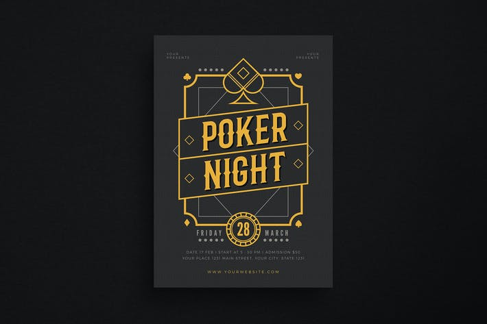 Thumbnail for Poker Night Event Flyer