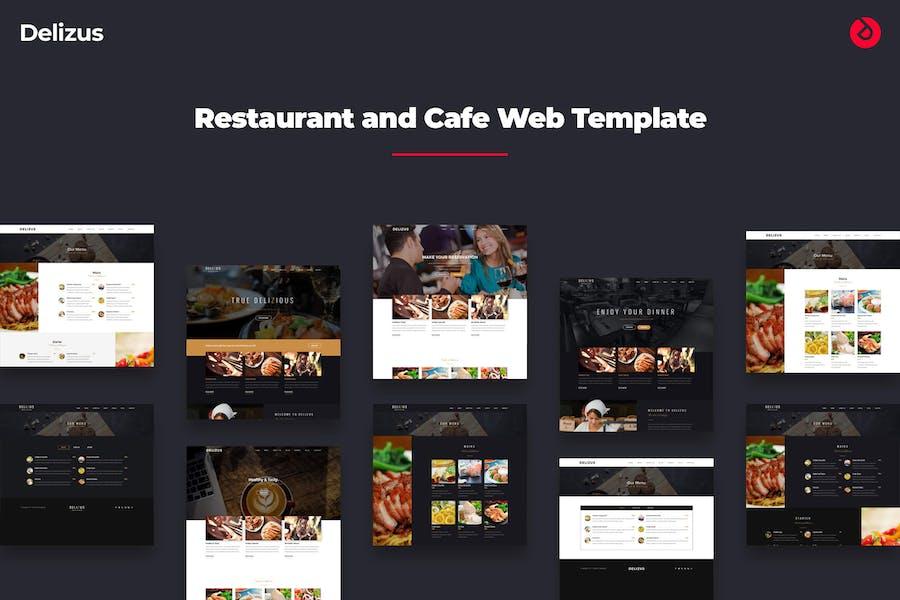 Delizus - Restaurant and Cafe Website Template