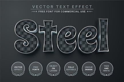 Steel - Editable Text Effect, Font Style