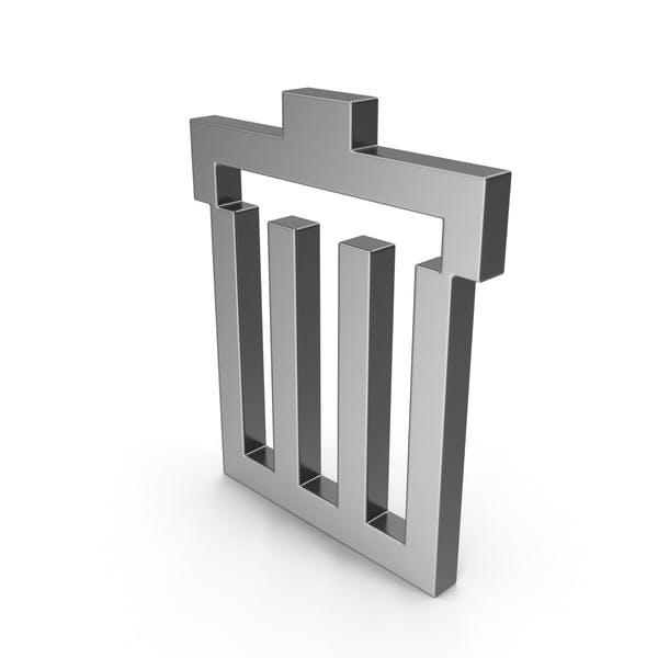 Symbol-Papierkorb Stahl